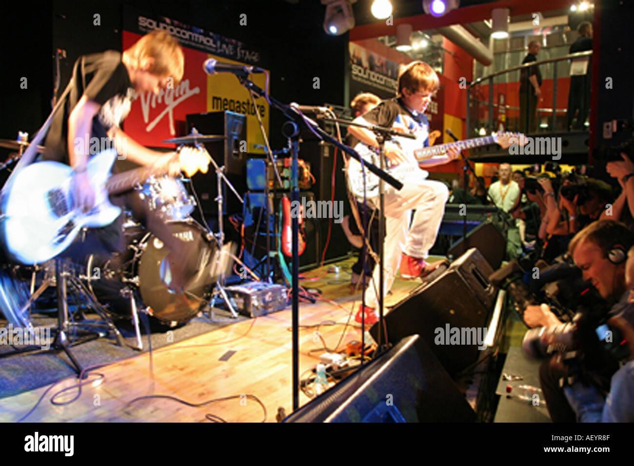 Ritorto banda del Regno Unito nel mese di agosto 2005 Immagini Stock