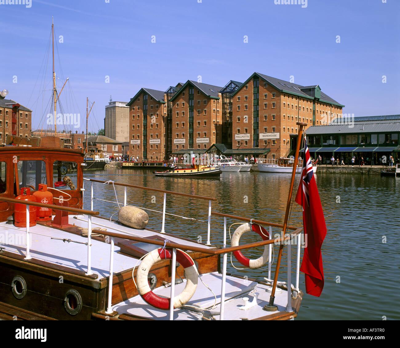 GB - GLOUCESTERSHIRE: Storica Gloucester Docks Immagini Stock