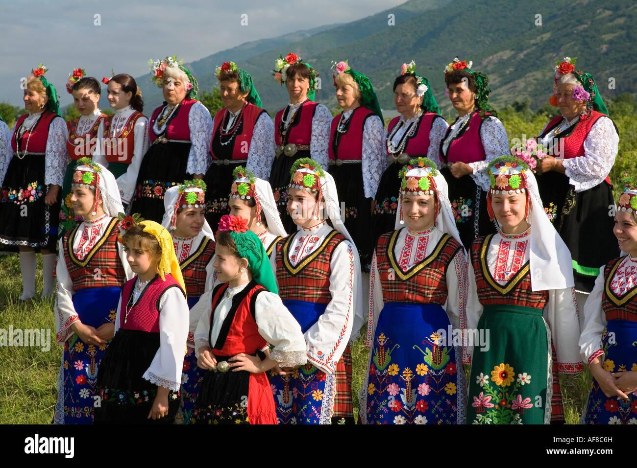Folklore Group, Festival di Rose, Karlovo, Bulgaria Immagini Stock