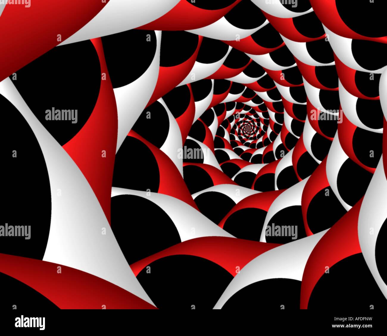 Abstract frattale che assomiglia a un menta piperita ritorto a spirale di vorticazione Immagini Stock