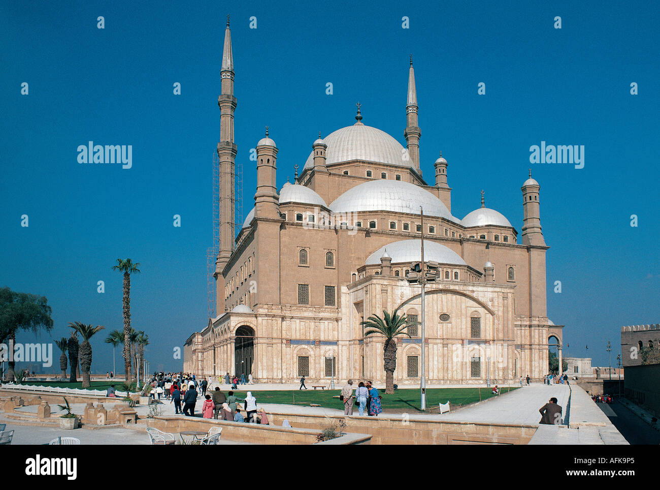 Moschea di Mohammed Ali La Cittadella del Cairo in Egitto Immagini Stock