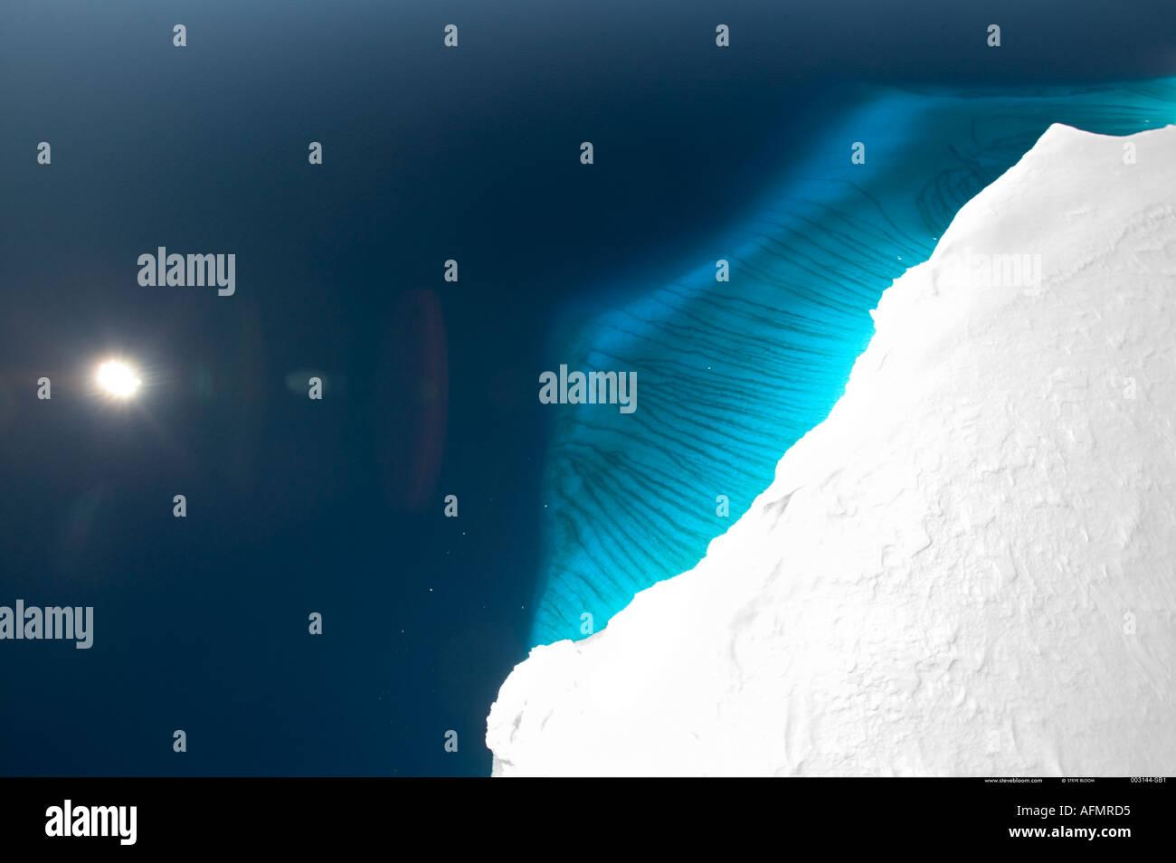 Ghiaccio acqua sotto il ghiaccio Drygalski linguetta sul Mare di Ross Antartide Immagini Stock