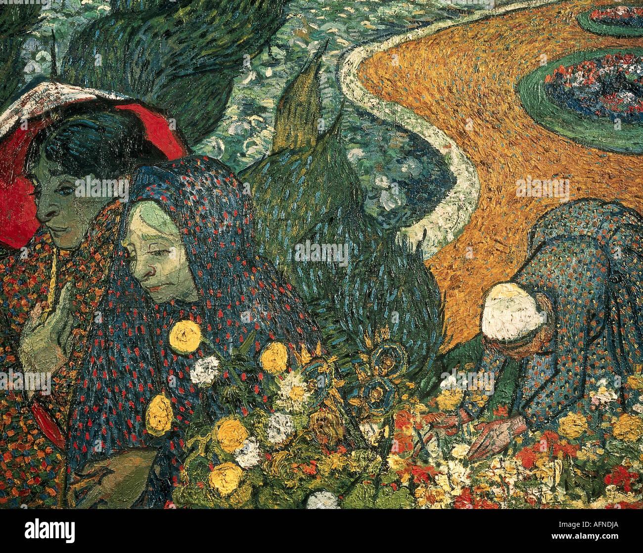 """""""Belle Arti, Gogh, Vincent van, (1853 - 1890), pittura, 'Memories del giardino a Etten o signore di Arles', novembre 1888, o Foto Stock"""