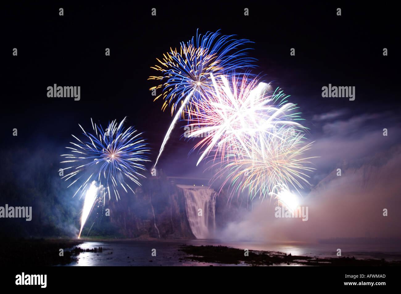 Canada Quebec City, Loto Québec Internazionale Competizione di fuochi d'artificio Foto Stock
