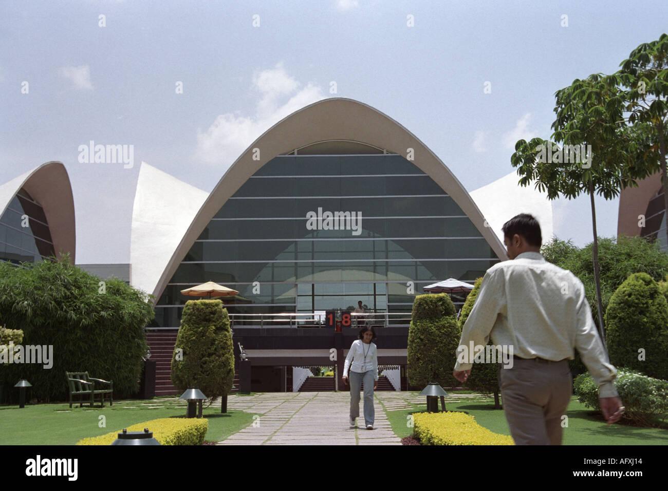 INDIA Bangalore motivi presso la sede di Infosys Technologies Ltd una società indiana che fornisce consulenza e all'IT Immagini Stock