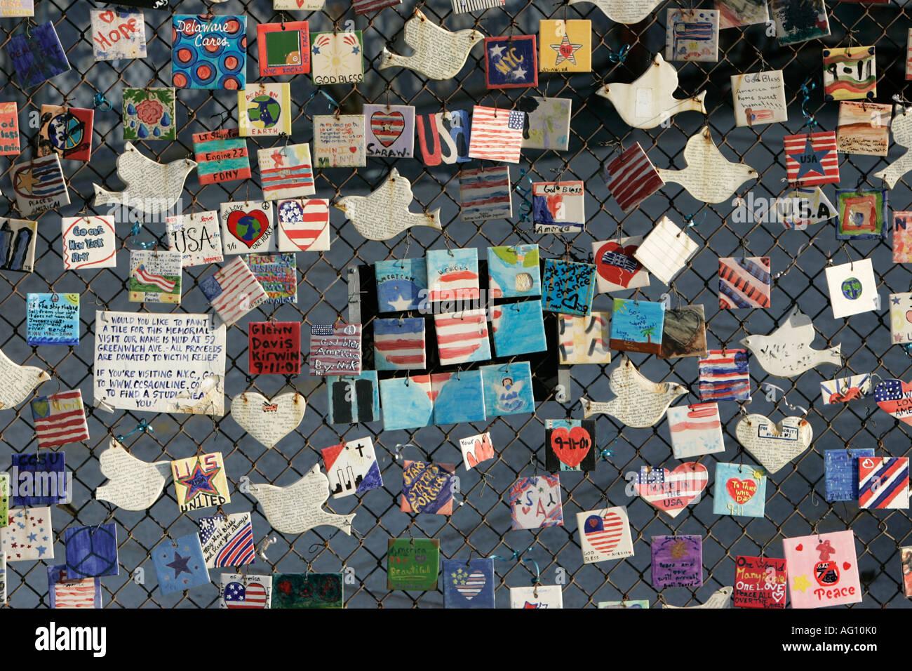 Memorial piastrelle piastrelle fatte da bambini nordamericani