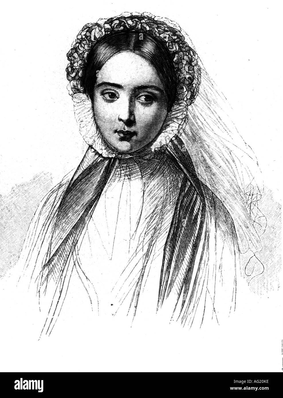 Victoria Adelaide, 21.11.1840 - 5.8. 1901, German Empress consort 9.3.1888 - 15.6.1888, ritratto, incisione dopo Foto Stock