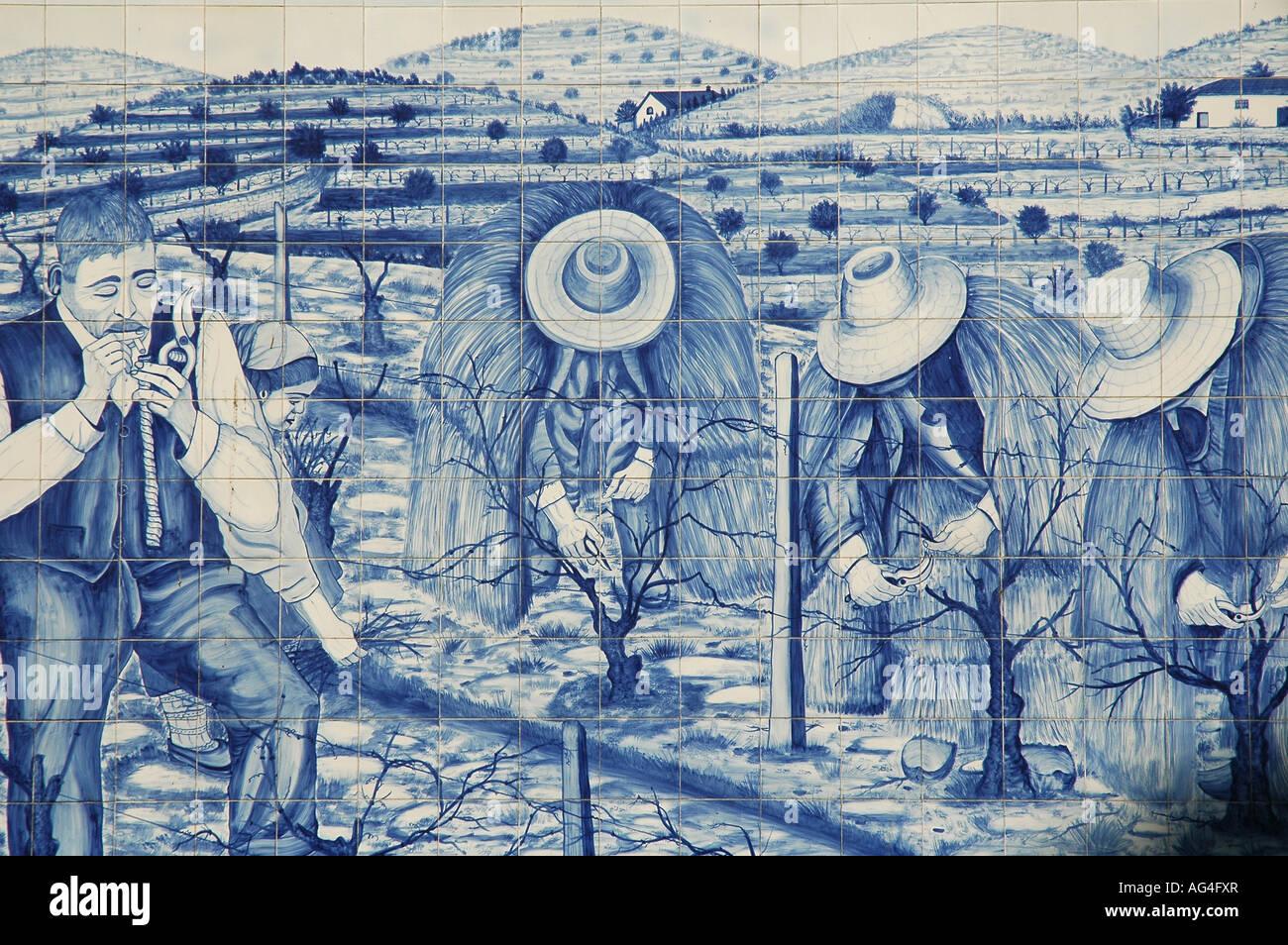 Dipinto di stagno ceramica invetriata piastrelle azulejos