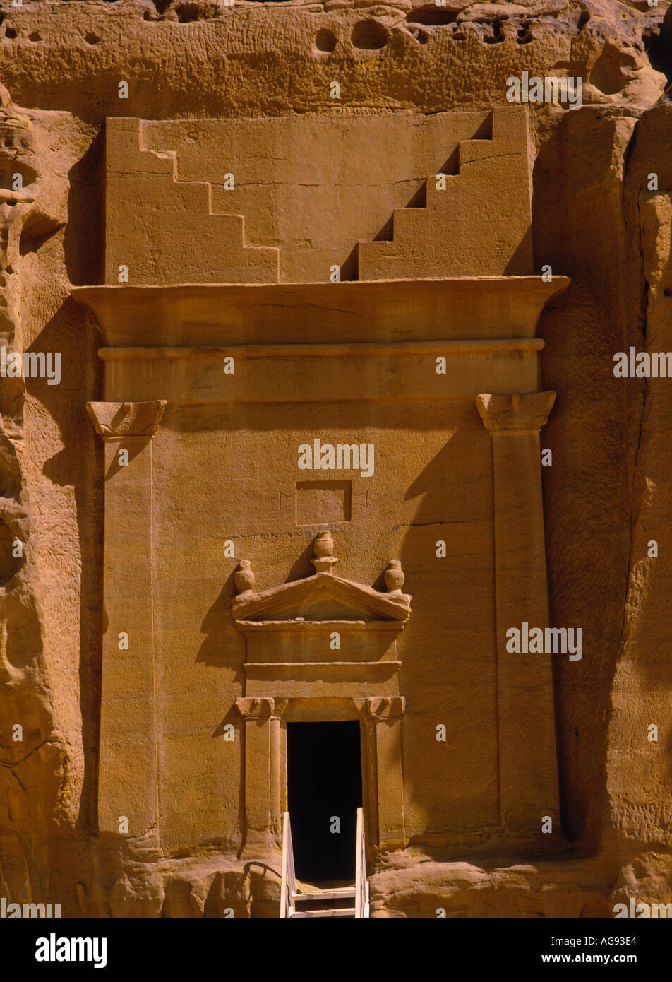 MADAIN SALAH ARABIA SAUDITA Asia Arabia Saudita Immagini Stock