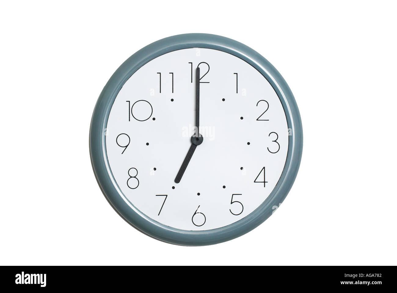 7 orologio o Immagini Stock