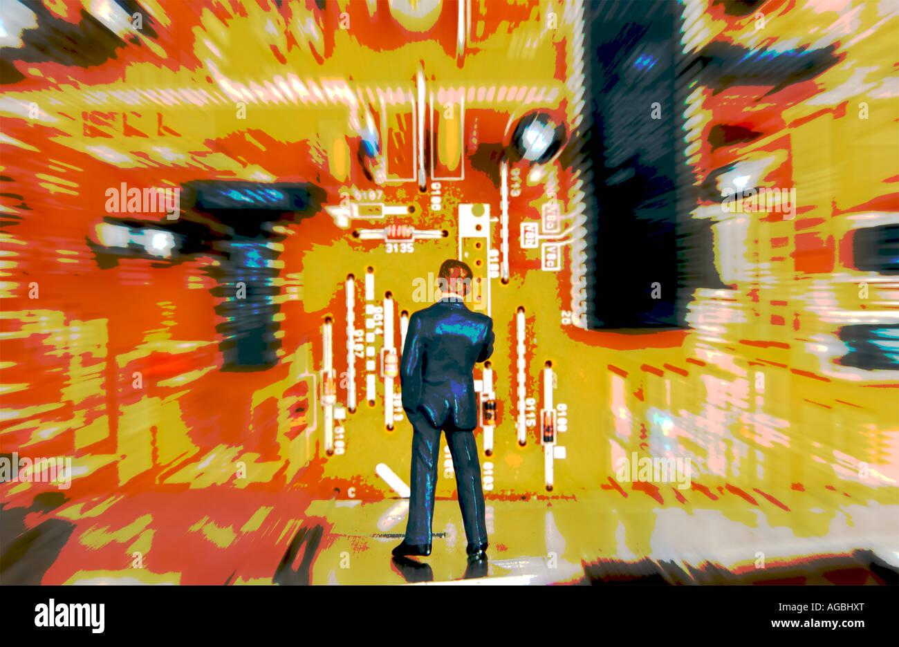 Tecnologia il concetto di business Immagini Stock