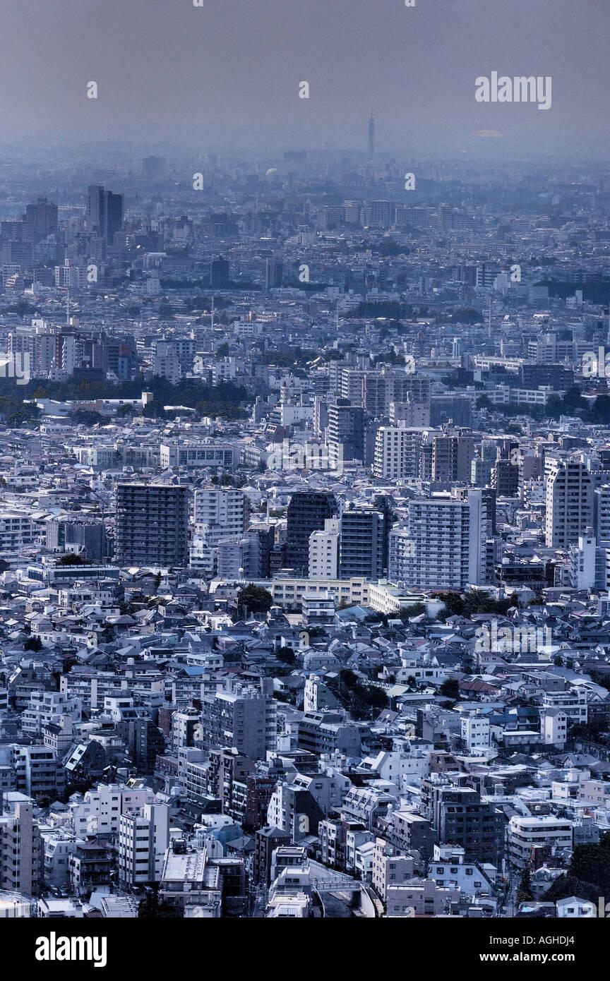 Vista sulla Tokyo, Tokyo, Giappone Immagini Stock