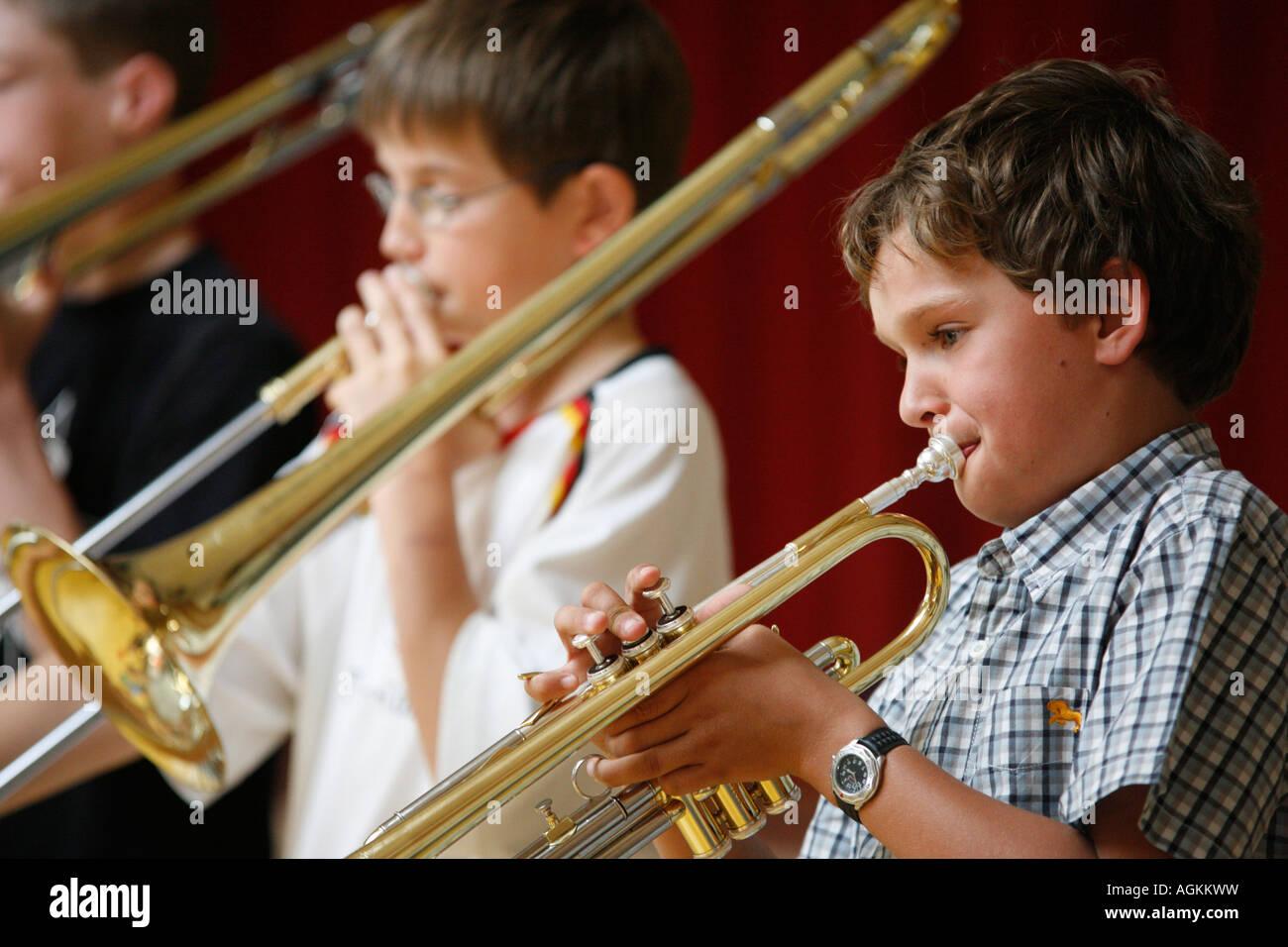 Kids fare musica Immagini Stock