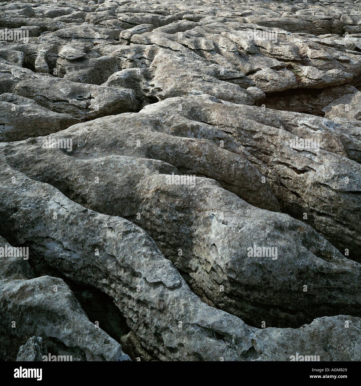 Pavimentazione di pietra calcarea Malham Cove Yorkshire Dales Immagini Stock