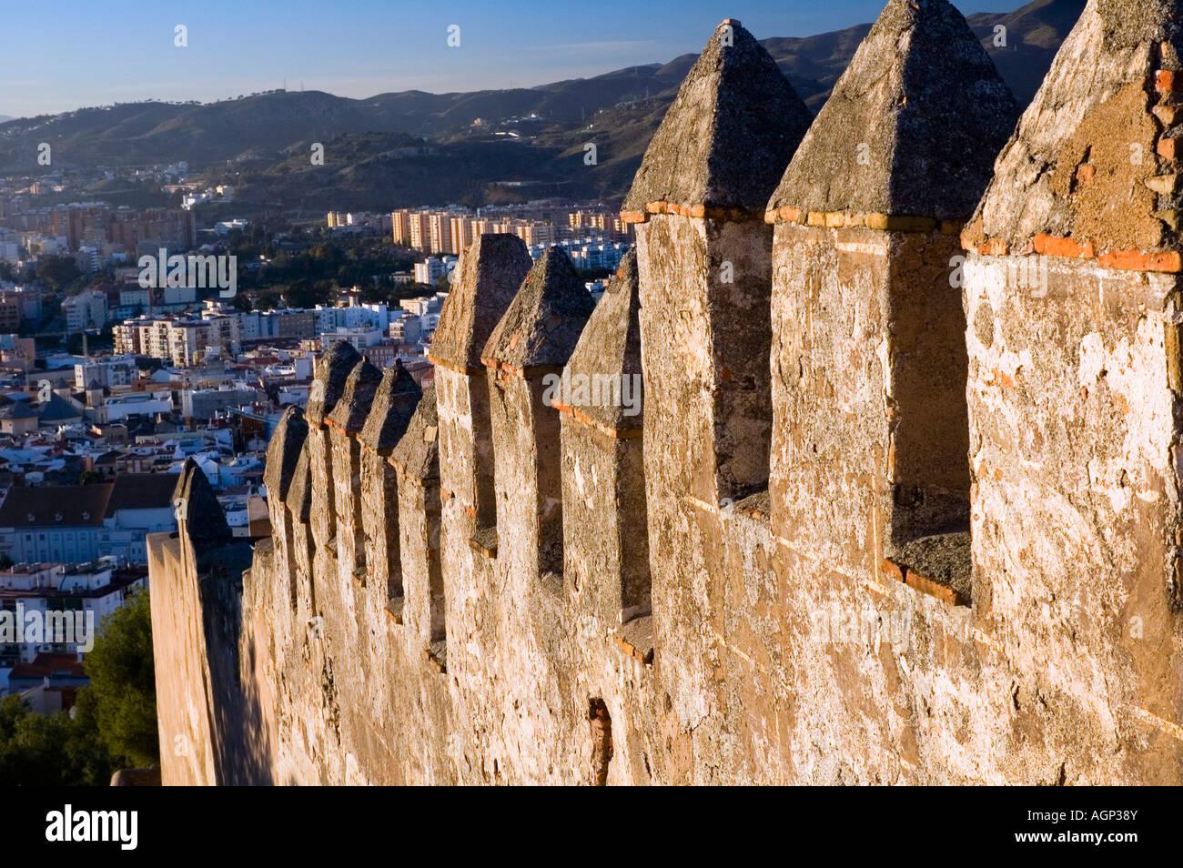 Alcazaba; mussulman monumento a Malaga (Spagna). Immagini Stock