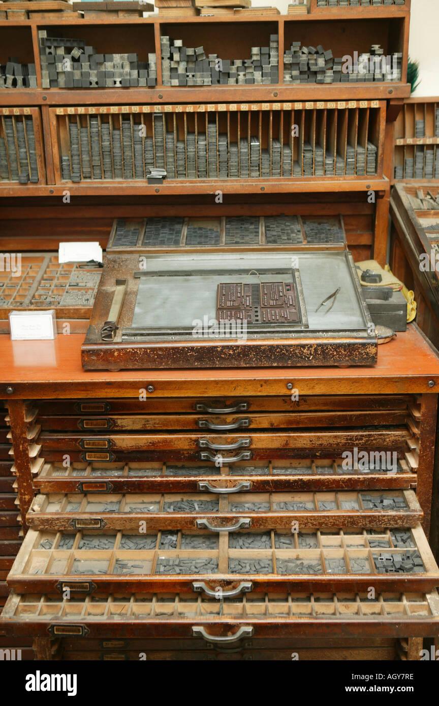 Stampa, lavori di stampa, atto, pezzo, tipografia, rilievo, stampa, stampante, illustrazione, arte, tecnica Immagini Stock
