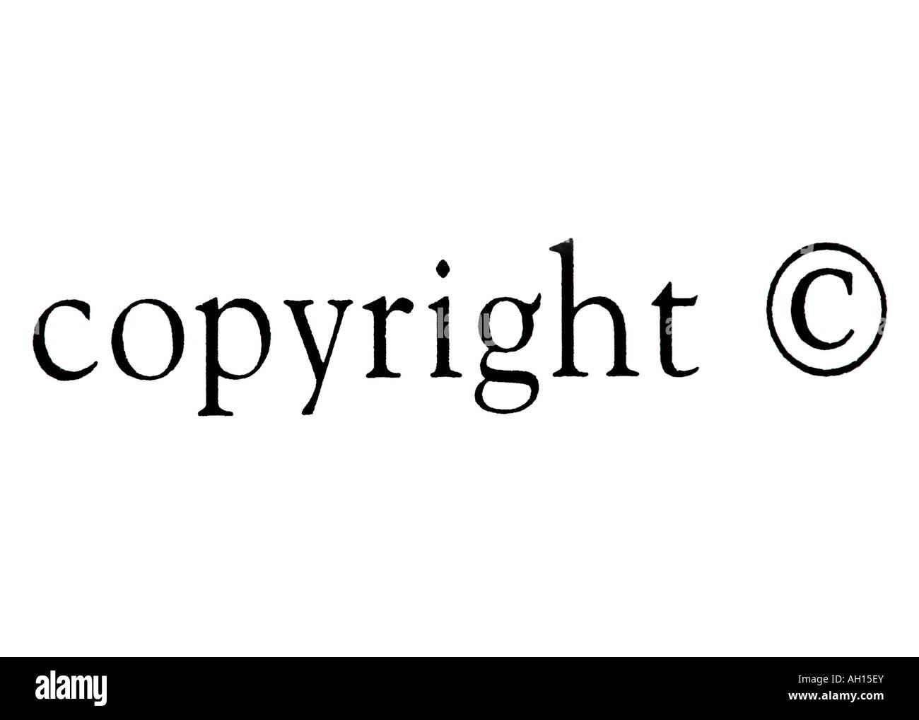 Copyright! Foto Stock
