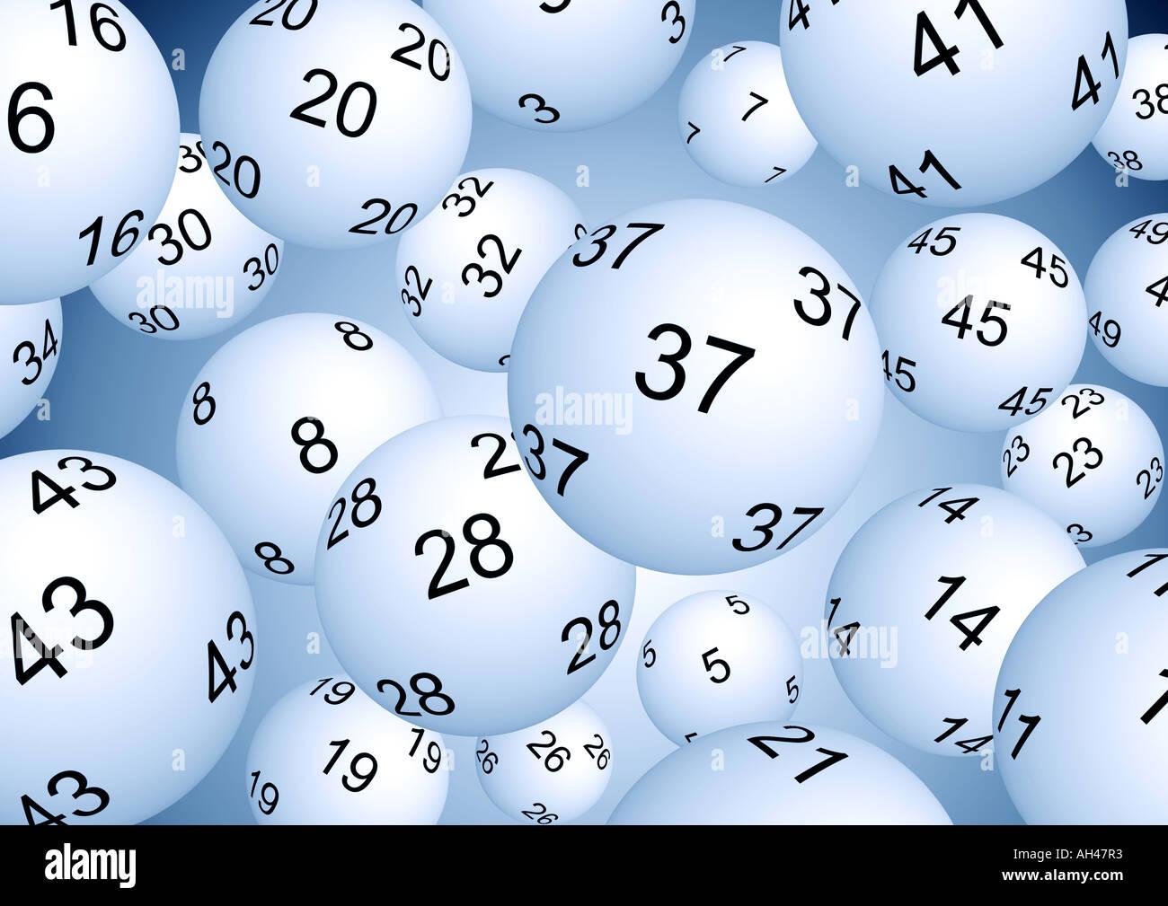 Lotto sweepstake Lottokugeln Immagini Stock
