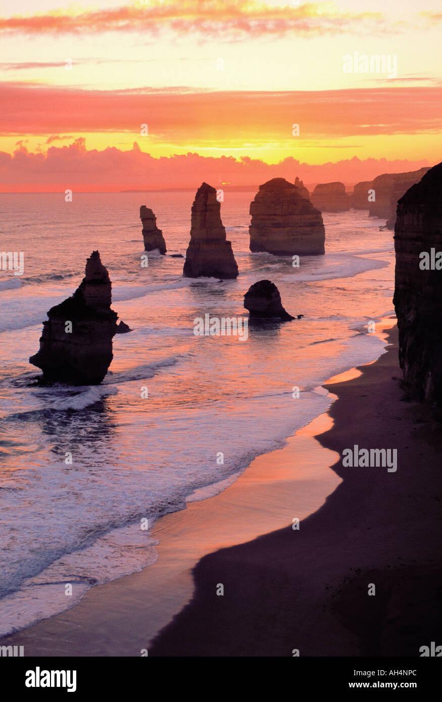 I dodici apostoli, il parco nazionale di Port Campbell, Victoria, Australia Immagini Stock