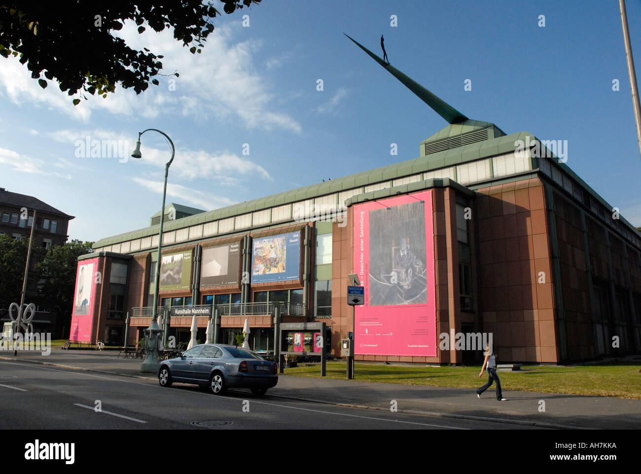 La Kunsthalle di Mannheim. Immagini Stock
