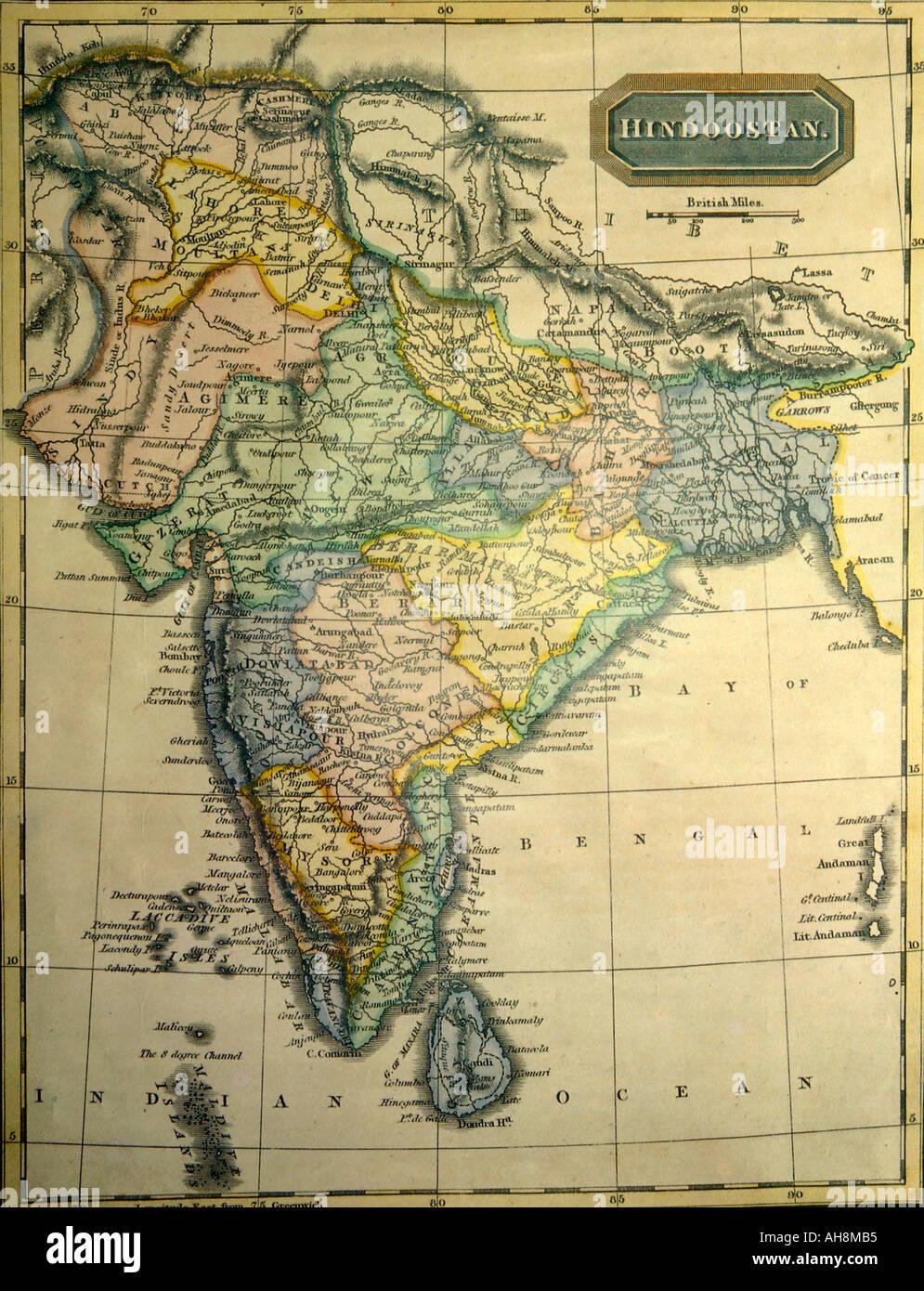 Cartina Fisico Politica India