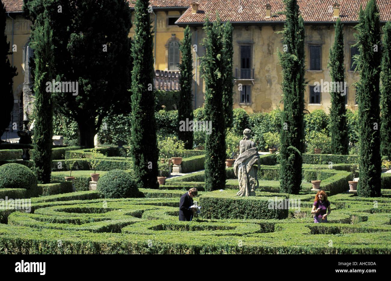 Giardino giusti verona veneto italia foto immagine stock