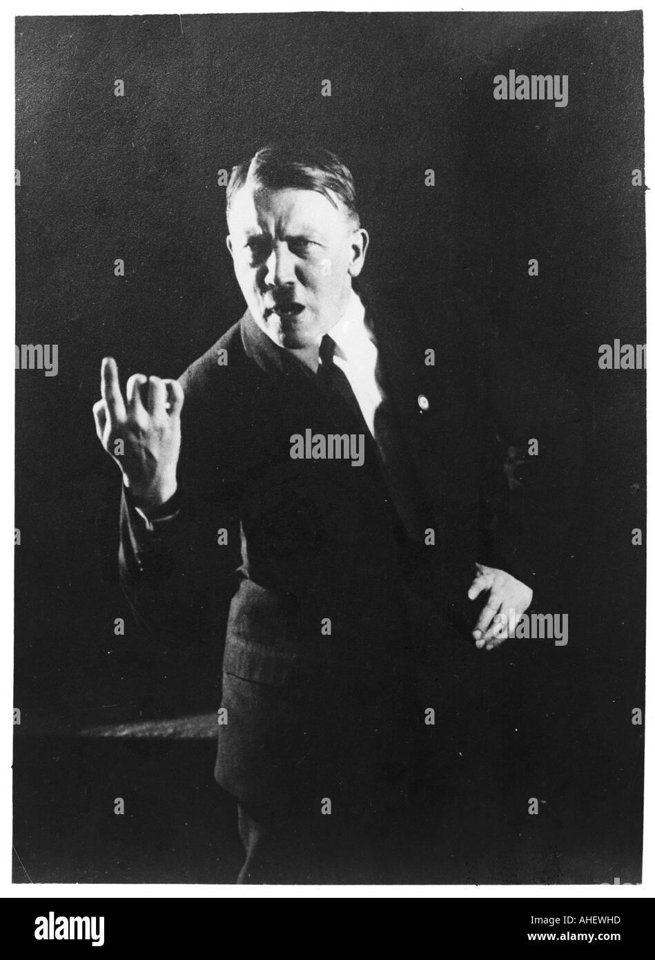 Hitler dà il dito Immagini Stock