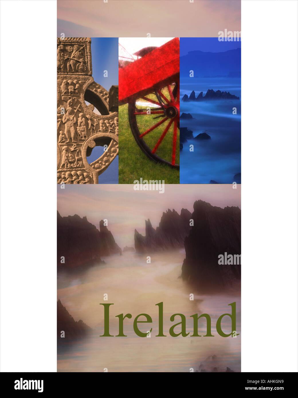 Concetto di viaggio: Repubblica di Irlanda (EIRE) Immagini Stock