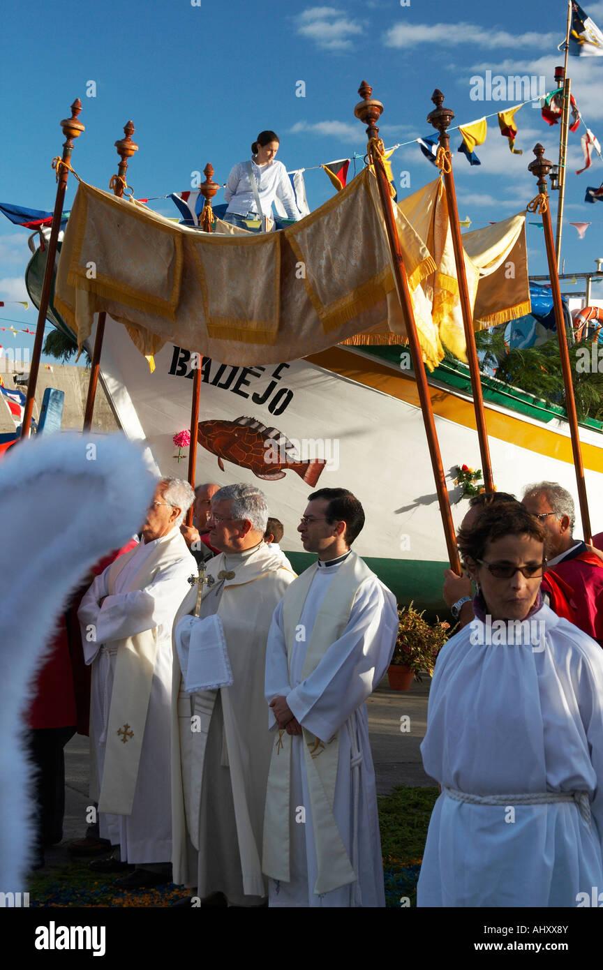 AzoresLocal fiesta nel villaggio di pescatori di Ribeira Quente, isola Sao Miguel, Azzorre. Immagini Stock