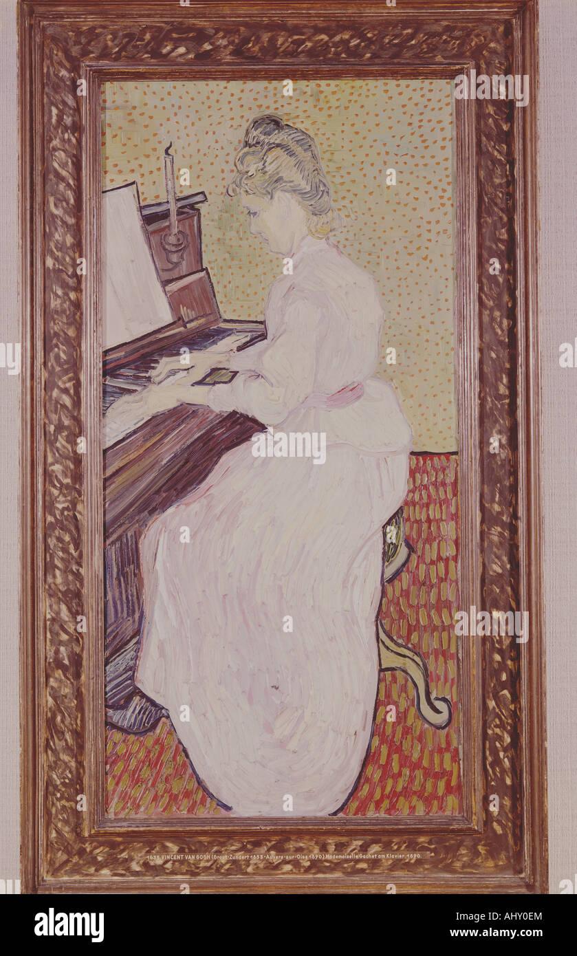 """""""Belle Arti, Gogh, Vincent van, (1853 - 1890), pittura, 'mademoiselle sul piano"""", 1890, olio su tela, museo di belle arti Foto Stock"""
