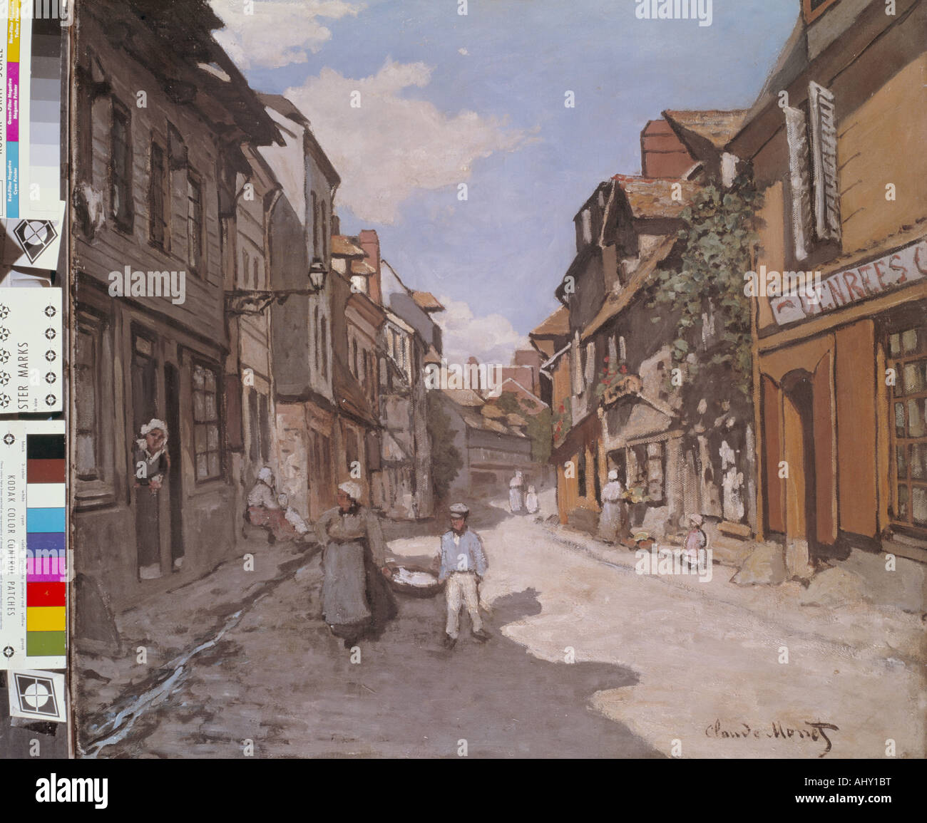 """Belle Arti, Monet, Claude (1840 - 1926), pittura, 'Rue de la Bavolle in Honfleur"", 1864, olio su Immagini Stock"