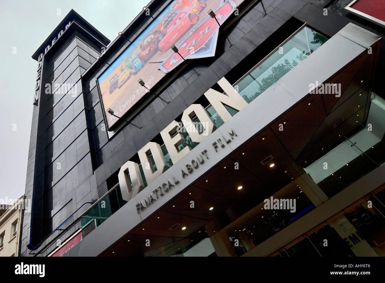 Cinema Odeon Leicester Square Londra Immagini Stock