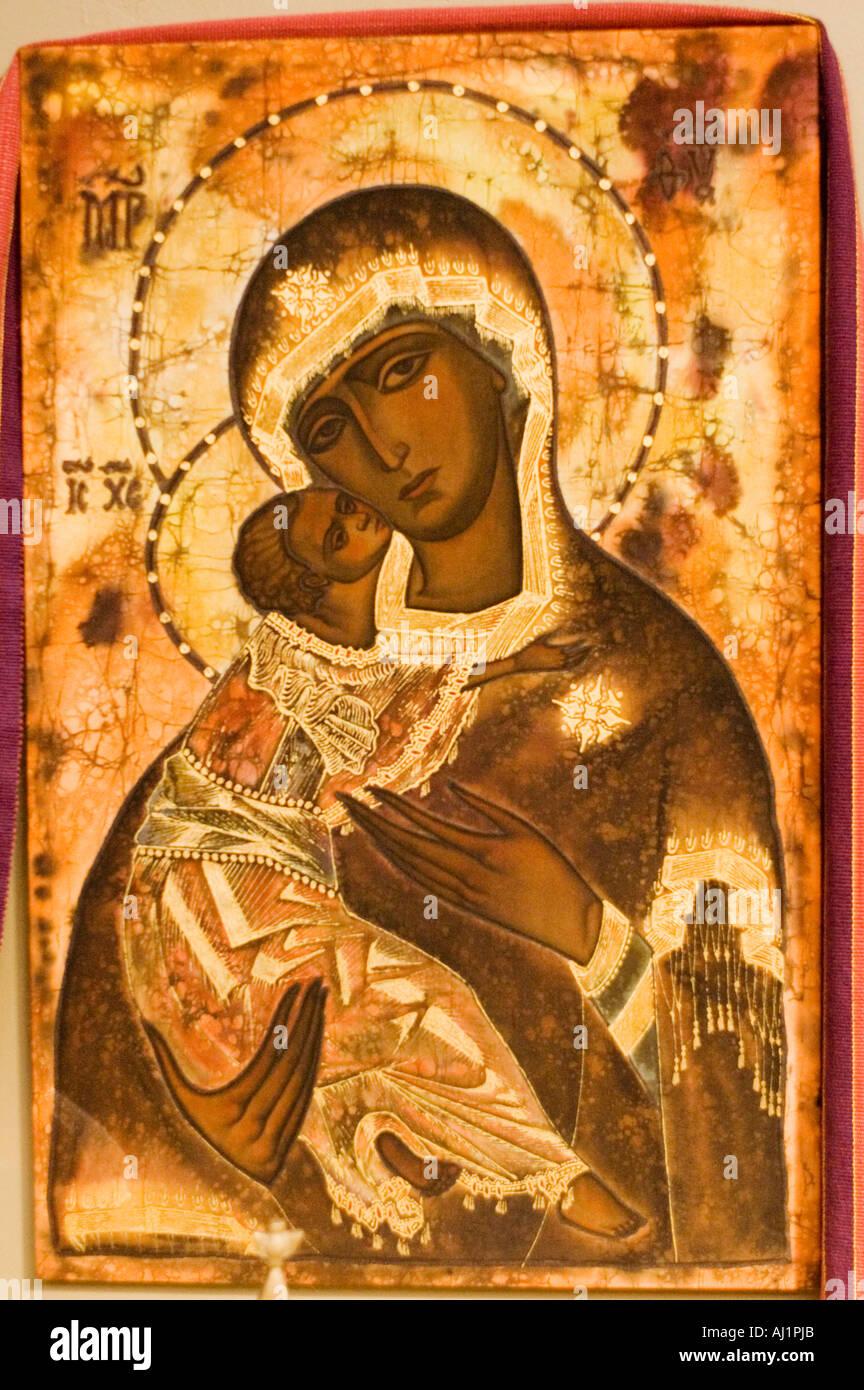 L'arte religiosa, icona della Madonna Immagini Stock