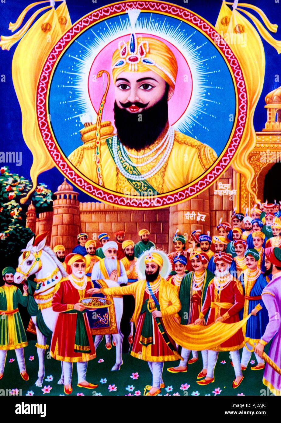 Il Guru sikh n. 7 associati con il Diwali Immagini Stock