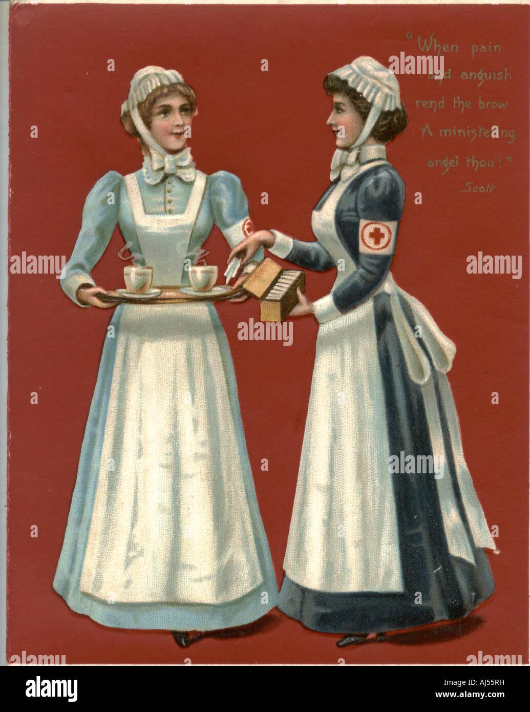 Natale vittoriano greeting card circa 1880 Immagini Stock