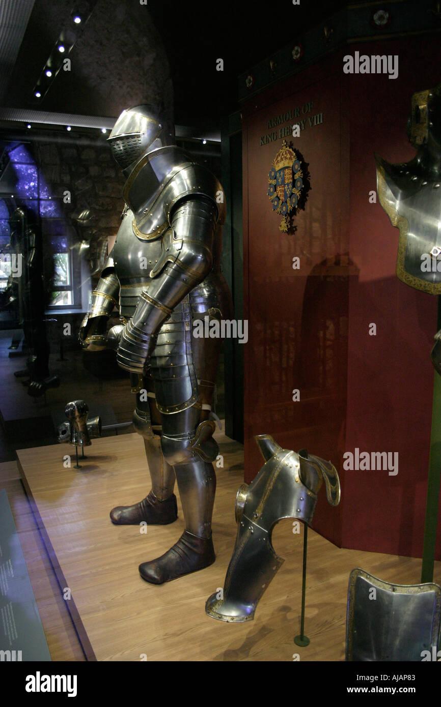 Armor presso la Torre di Londra Immagini Stock