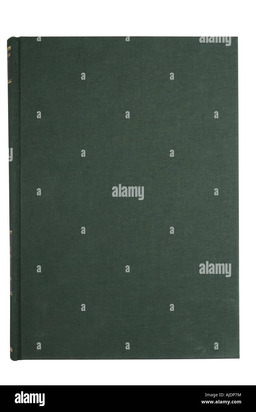 Vuoto libro verde coperchio isolato su bianco con tracciato di ritaglio Immagini Stock