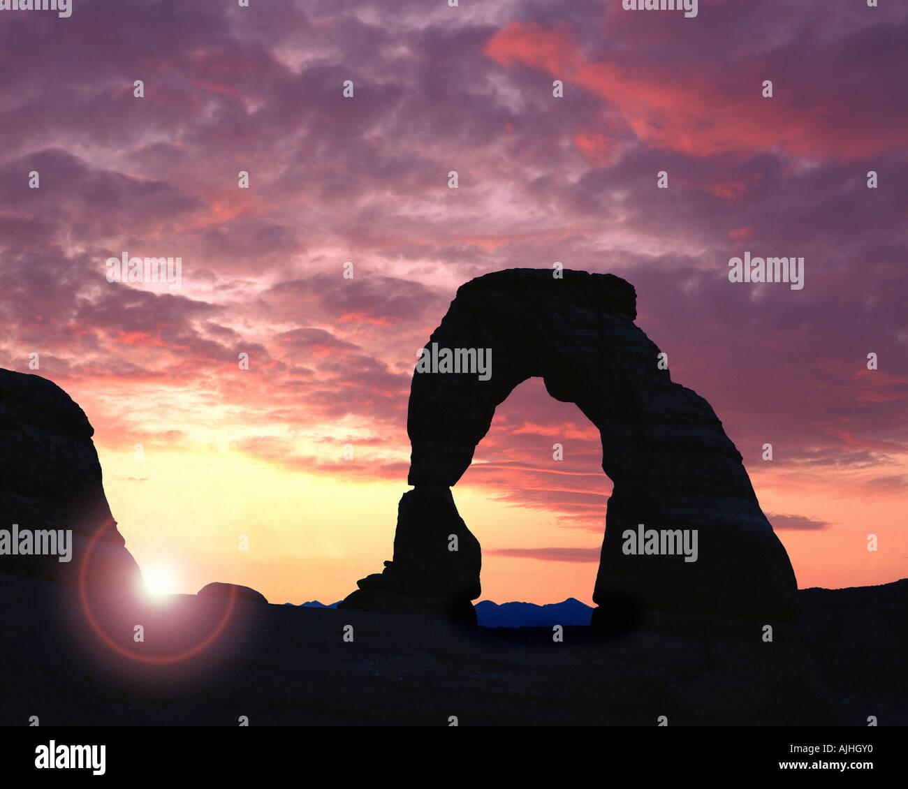 Stati Uniti - UTAH: Delicate Arch Arches National Park Immagini Stock