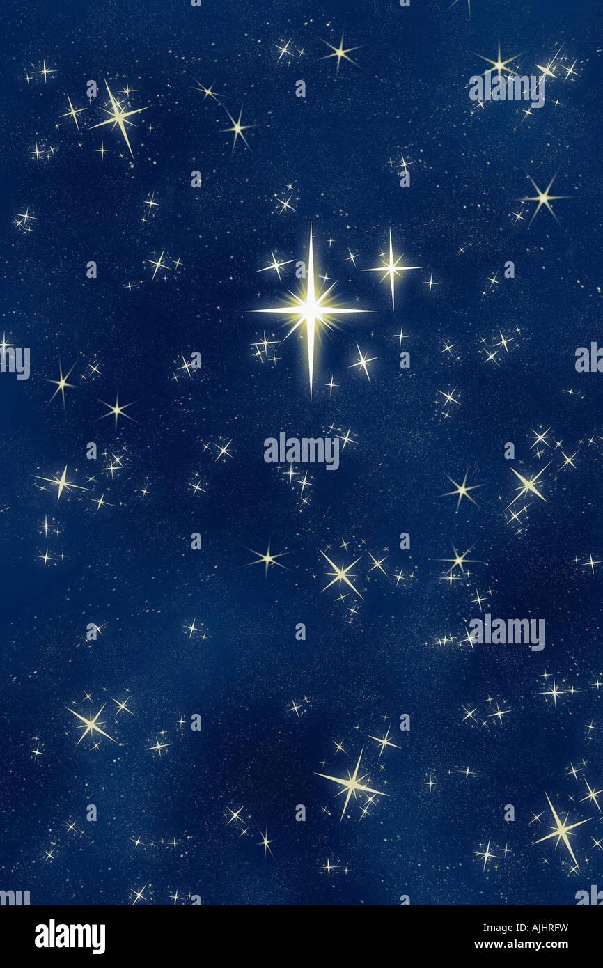 Stella Luminosa Di Natale.Grande E Luminosa E Bella Che Desiderano O Stella Di Natale Tra Il