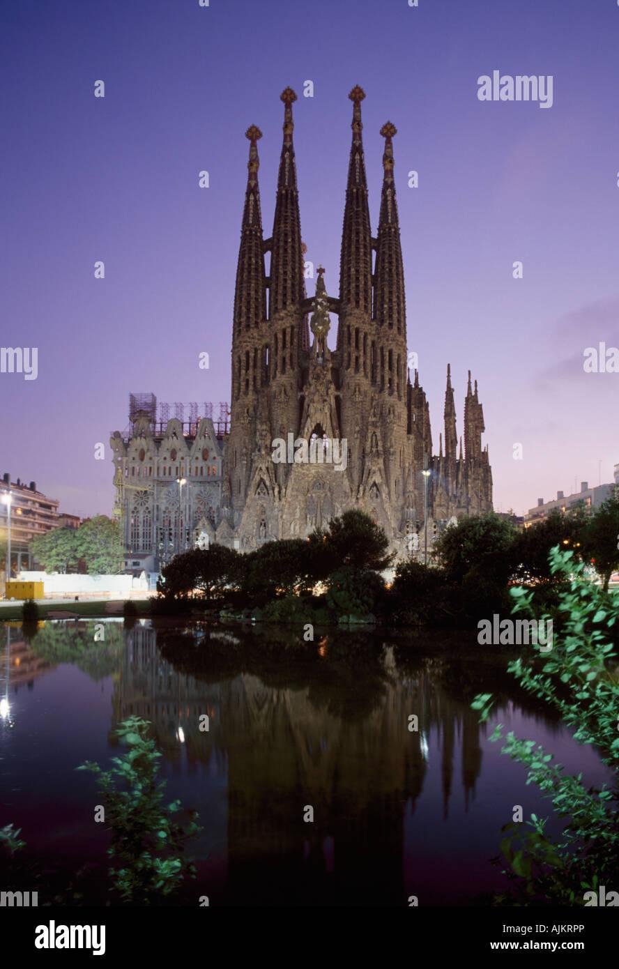 Cattedrale Sagrada Familia Temple Expaitori de la Sagrada Familia a Barcellona Catalonia Spagna Immagini Stock