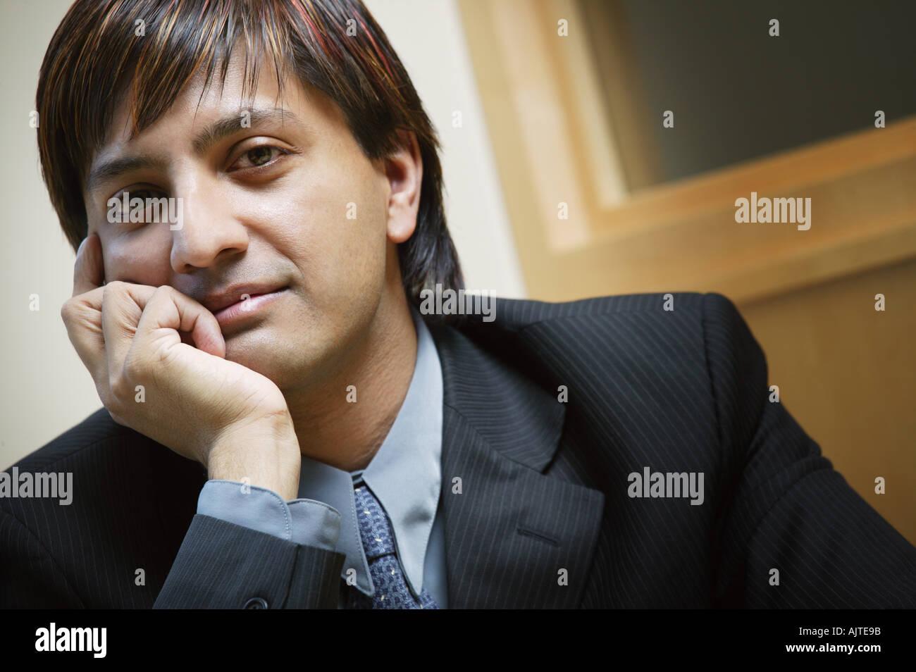 Oriente commerciante indiano Immagini Stock