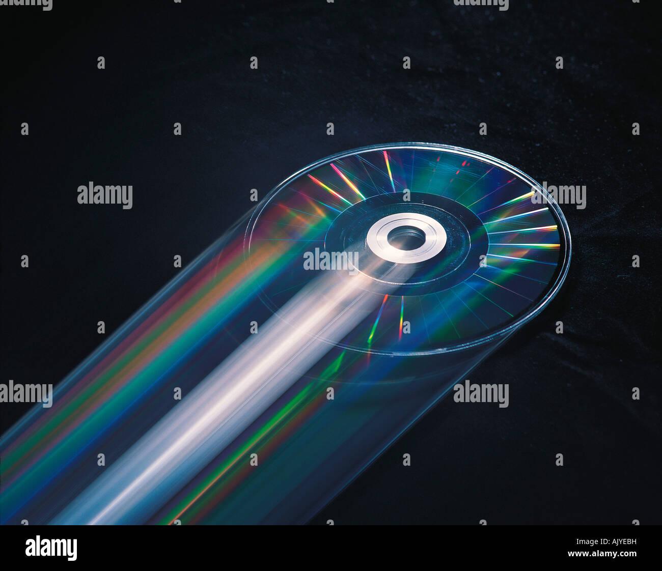Impressione di movimento immagine del DVD disco per computer multimediali. Foto Stock