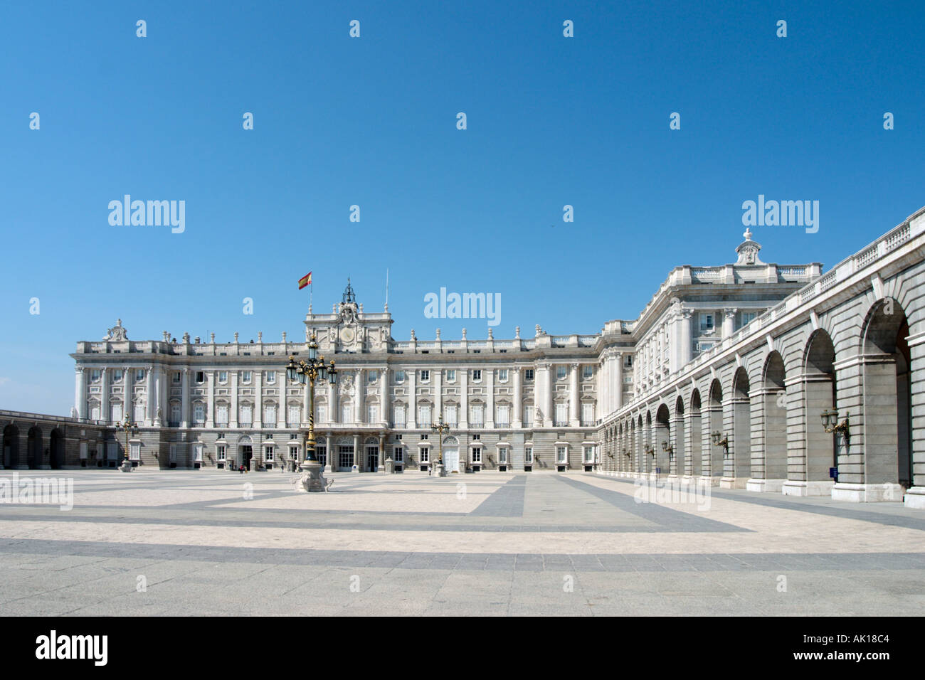 Palacio Real (Palazzo Reale), Madrid, Spagna Immagini Stock
