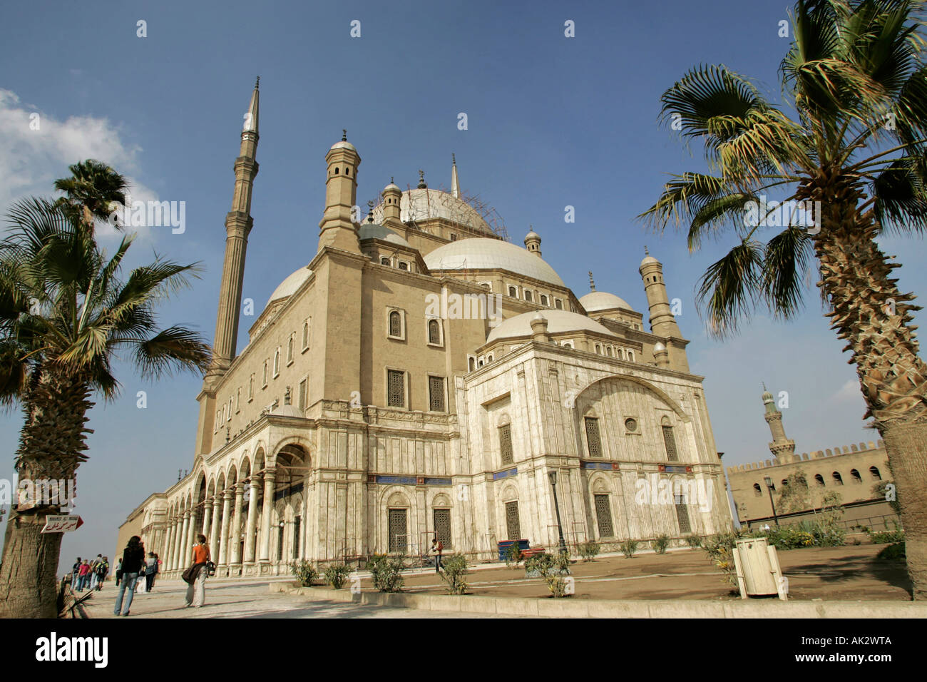 La moschea di Mohammed Ali, noto anche come la Moschea di alabastro, presso la Cittadella del Cairo in Egitto Immagini Stock