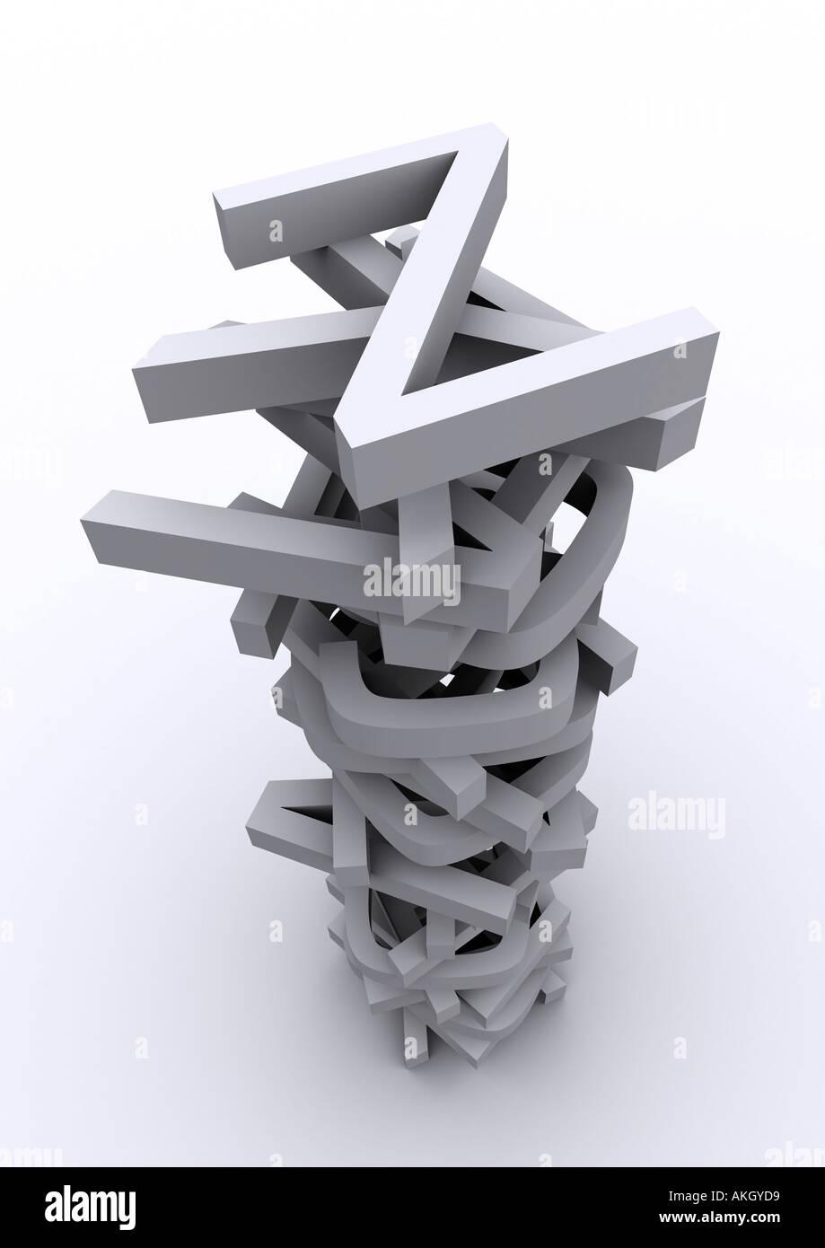 Pila di lettere Immagini Stock
