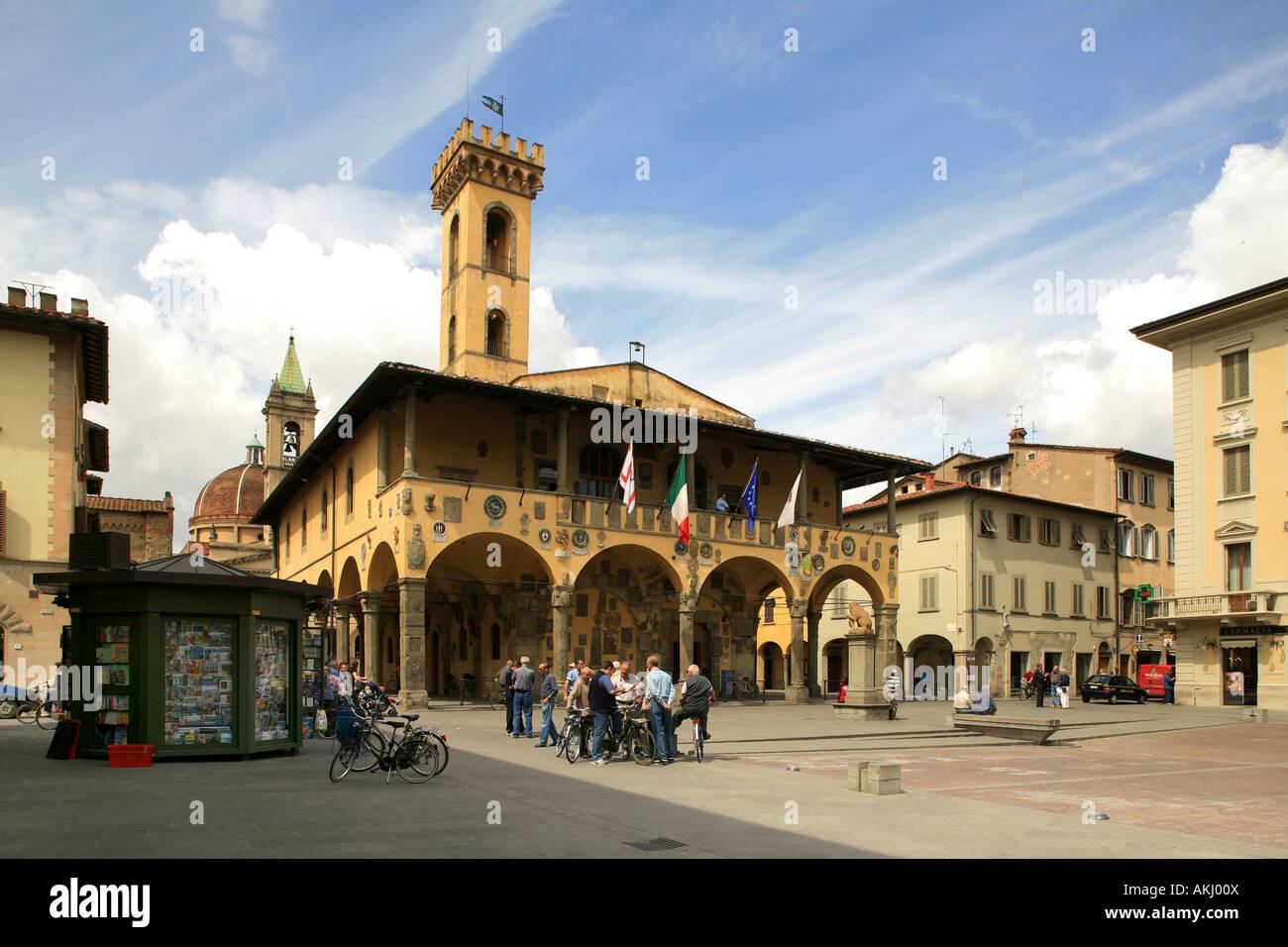 Palazzo Pretorio, San Giovanni Valdarno, Toscana, Italia Foto Stock
