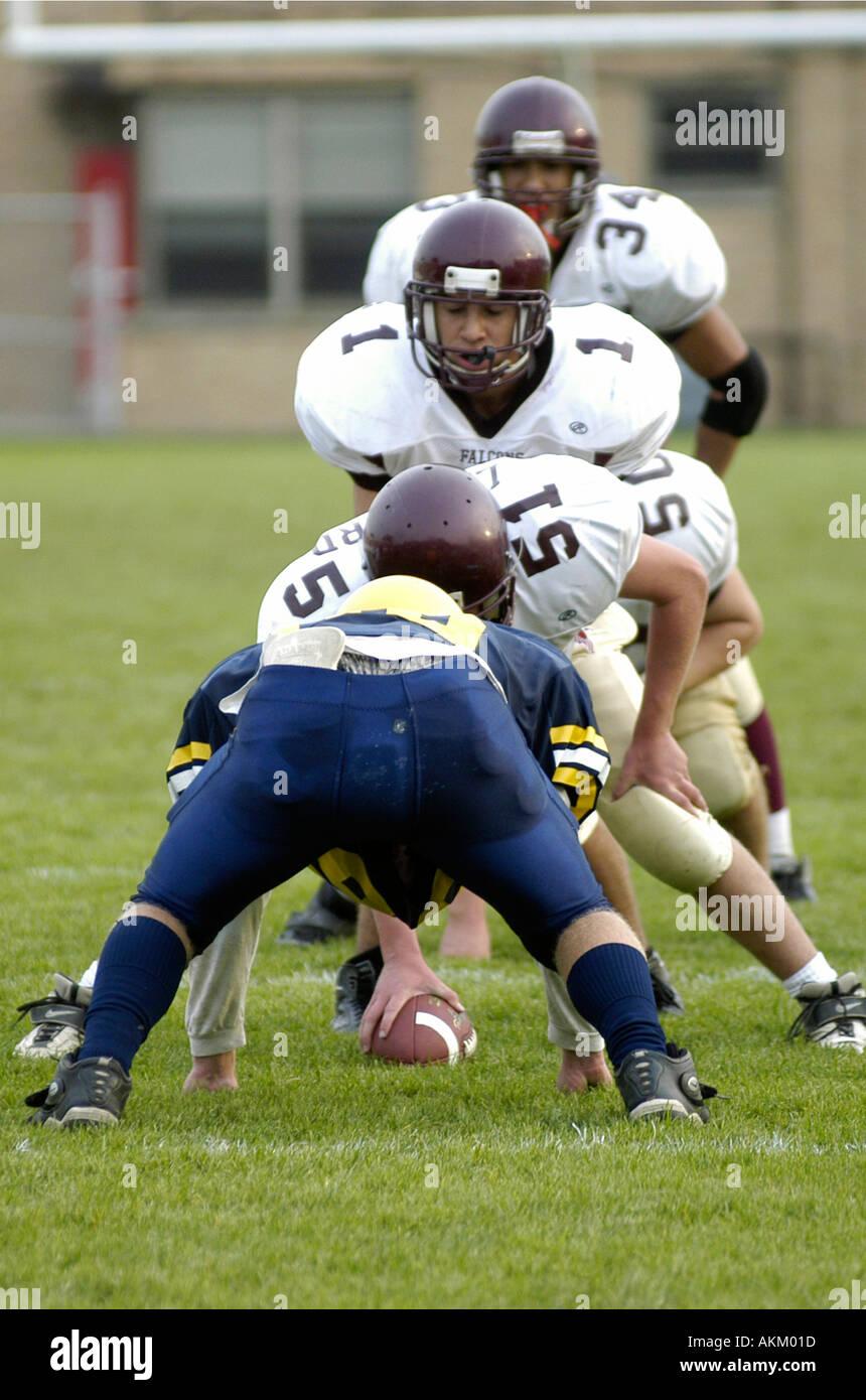 Alta Scuola Calcio azione Port Huron Michigan ci americano U S Immagini Stock