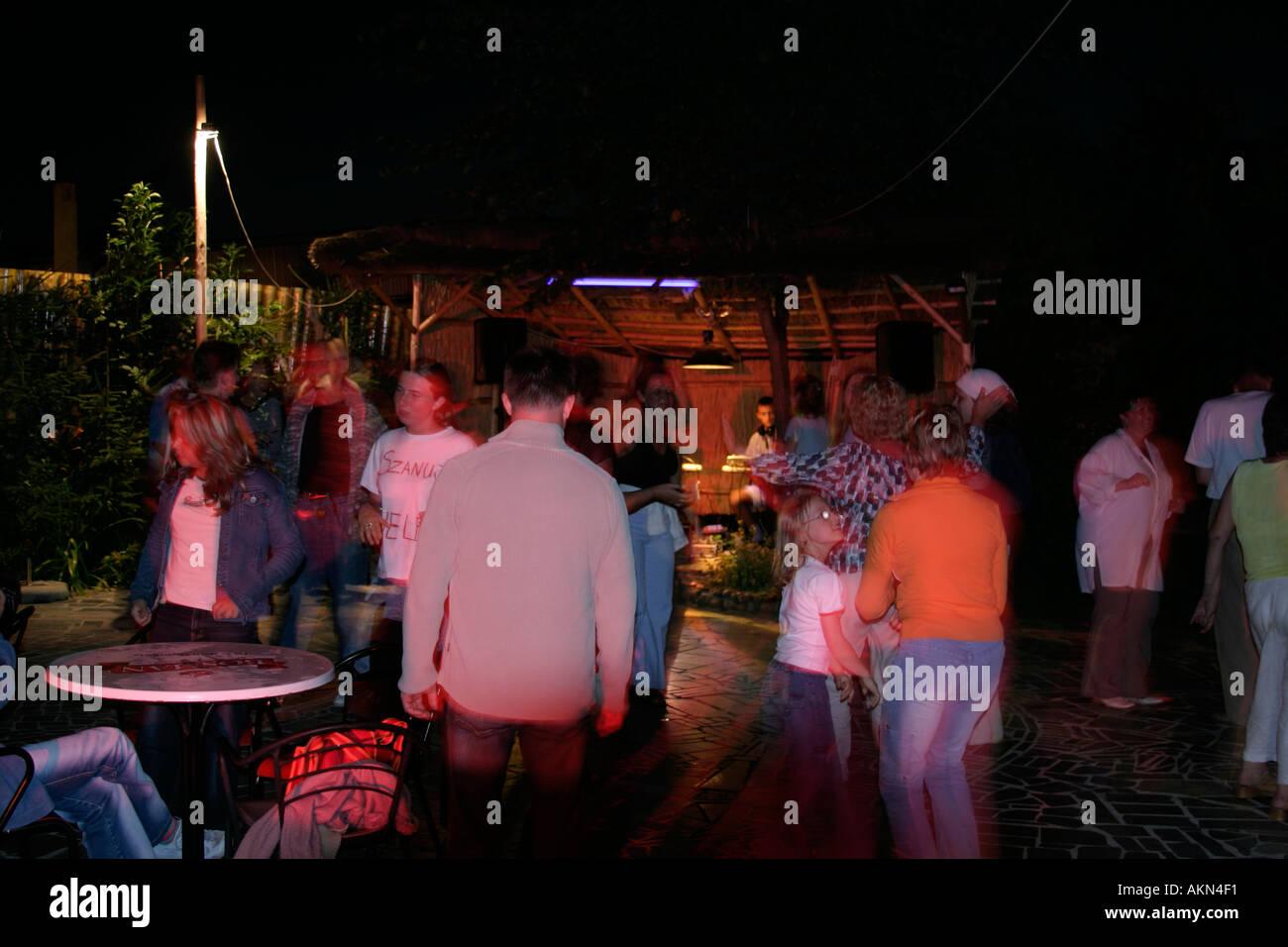 Discoteca notte vita notturna della Polonia Immagini Stock