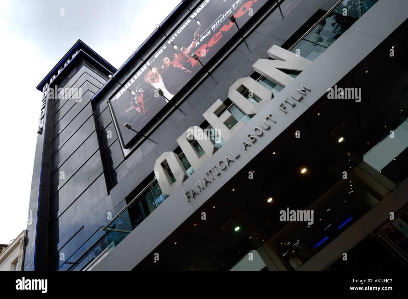 Cinema Odeon Leicester Square Londra Inghilterra REGNO UNITO Immagini Stock