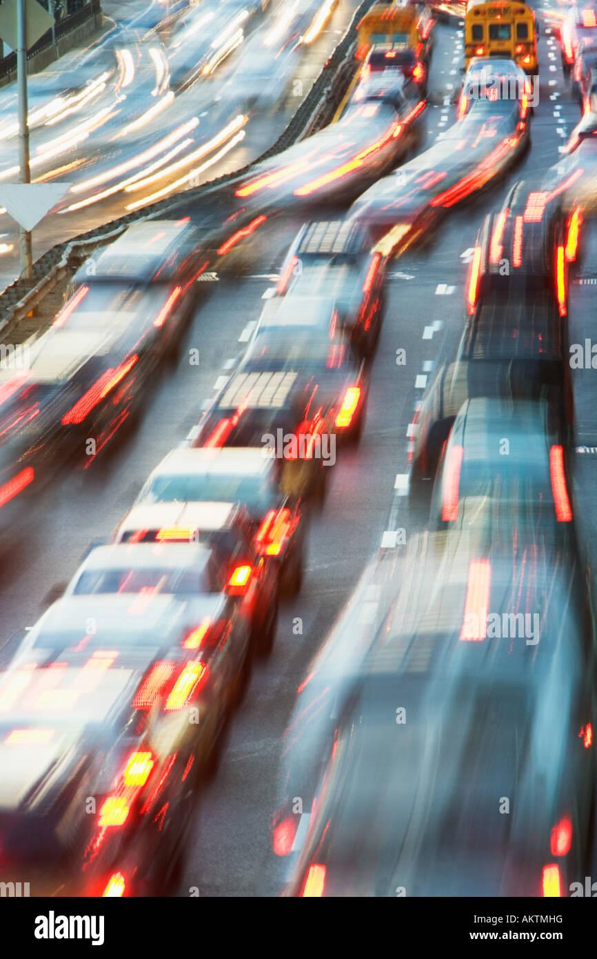 Traffico sulla strada Immagini Stock